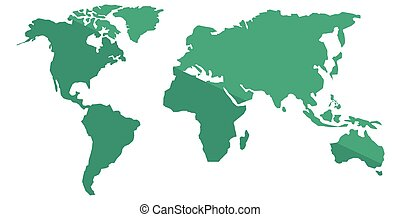 World map vector illustration - World map vector flat design...
