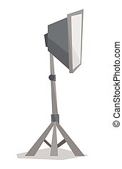 Photo studio lighting equipment. - Side view of photo studio...
