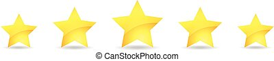 5 gold star icon set vector award q
