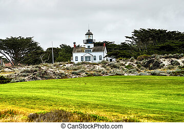 Point Pinos Lighthouse Asilomar California, oldest...
