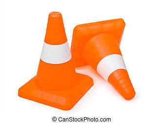 traffic cone isolated