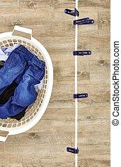 Clothes Line - A studio photo of a clothes line