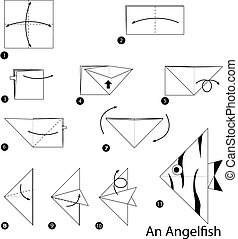 origami An Angelfish - step by step instructions how to make...