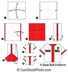 origami A Base Ball Uniform - step by step instructions how...