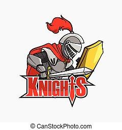 knights illustration design colorful