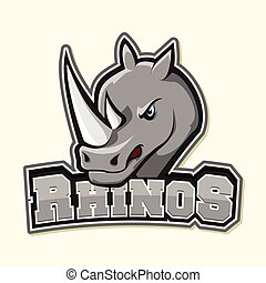 rhino logo illustration design