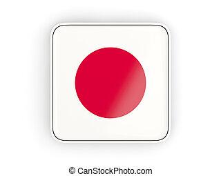 bandeira, de, Japão, quadrado, ícone