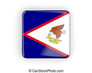 bandiera, di, americano, Samoa, quadrato, icona