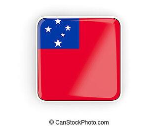 bandiera, di, Samoa, quadrato, icona