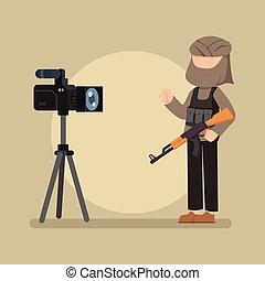 terrorist interview on camera