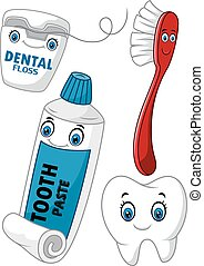 Cartoon dental care set