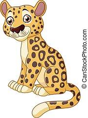 Cute cheetah sitting