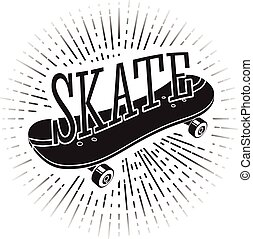 Sign with word Skate riding on it For tattoos, signs, logos...