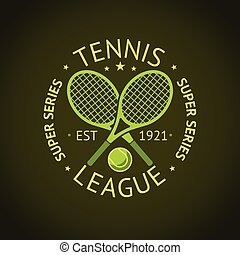 Tennis League super series label badge for your club. Vector