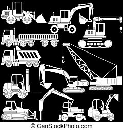 vector of shape construction vehicle - vector of shape heavy...