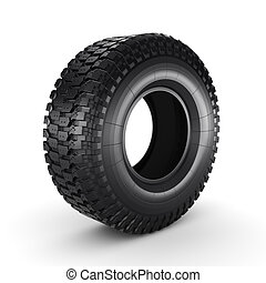 3D rendering truck tire on a white background