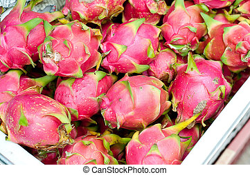 Red dragon fruit in bulk