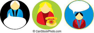 Icon vector comunication - Vector image with different signs...
