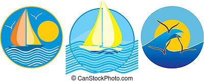 Icon vector sea