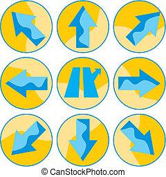 Icon vector arrows