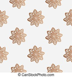 pattern with gingerbread cookies - Drawing of a seamless...