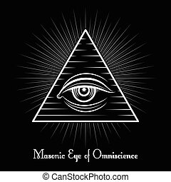 Omniscience All seeing eye symbol - Omniscience vector icon...