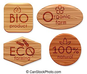 Eco natural product wooden labels