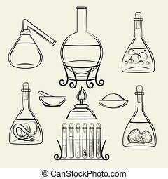 Alchemical vessels or vintage lab equipment - Alchemical...