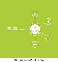 Renewable green energy. - Eco energy. Renewable green...