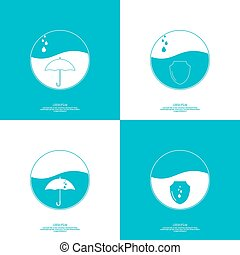 Abstract vector element - Set of abstract vector icons with...