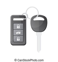 Car Key with Remote Control Vector - Car Key with Remote...