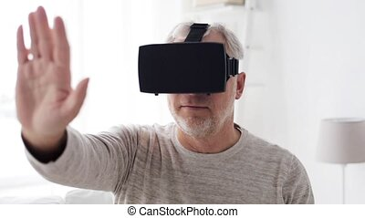 old man in virtual reality headset or 3d glasses 2 - 3d...