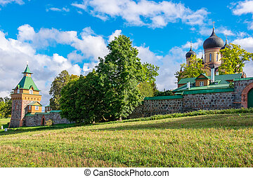 Kuremae Dormition Convent. Estonia, EU - Outside of Puhtitsa...