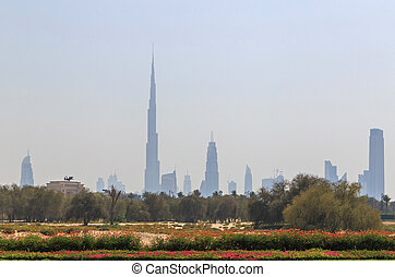 Downtown district of Dubai - cityscape of Downtown district...