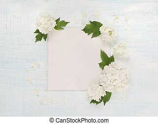 Scrapbooking page with white flowers - Scrapbooking page of...