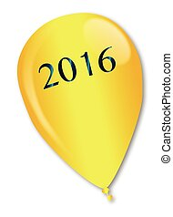 2016 Baloon - A large gold balloon with the legend 2016
