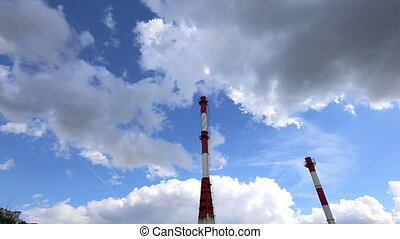 industrial pipes of the power plant - The industrial pipes...