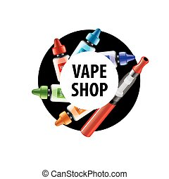 vector logo for the shop of electronic cigarettes - logo...