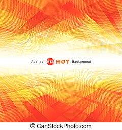 Abstract Red Hot Background