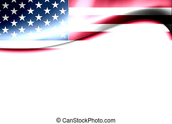 Usa flag - United States of america flag wave. Dynamic...