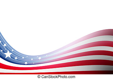 Dynamic wave - Usa flag illustration, abstract wave over...