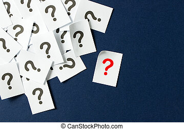 Question mark - Pile of question marks written on papers...