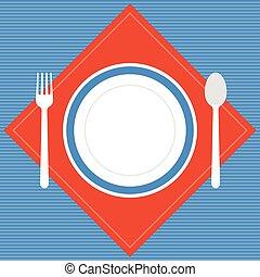Vector empty plate