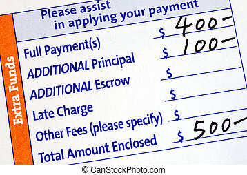 Fill in the mortgage payment coupon - Fill in the monthly...