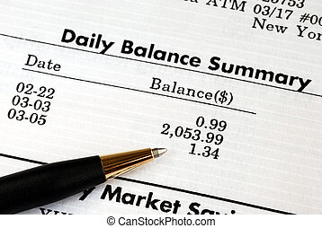 Check the bank account statement - Carefully check the...