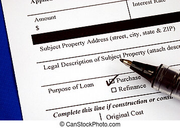 Fill out the mortgage application