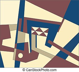Abstract modern composition