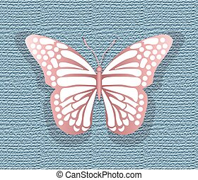 Lace Butterfly on texture background