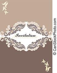 Floral ornament Invitation card