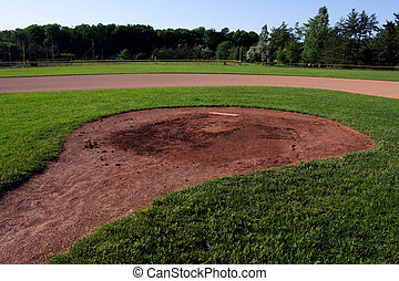 Wide Angle Pitchers Mound - A wide angle shot of the...